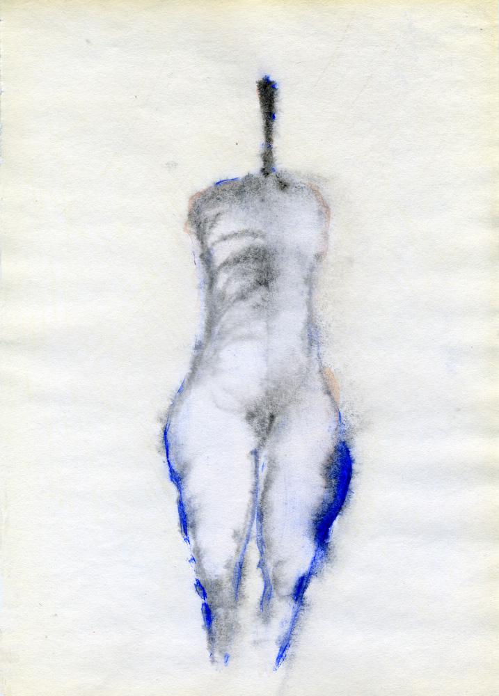 Dessin. Sanstitre, aux cuisses bleues. 2009.