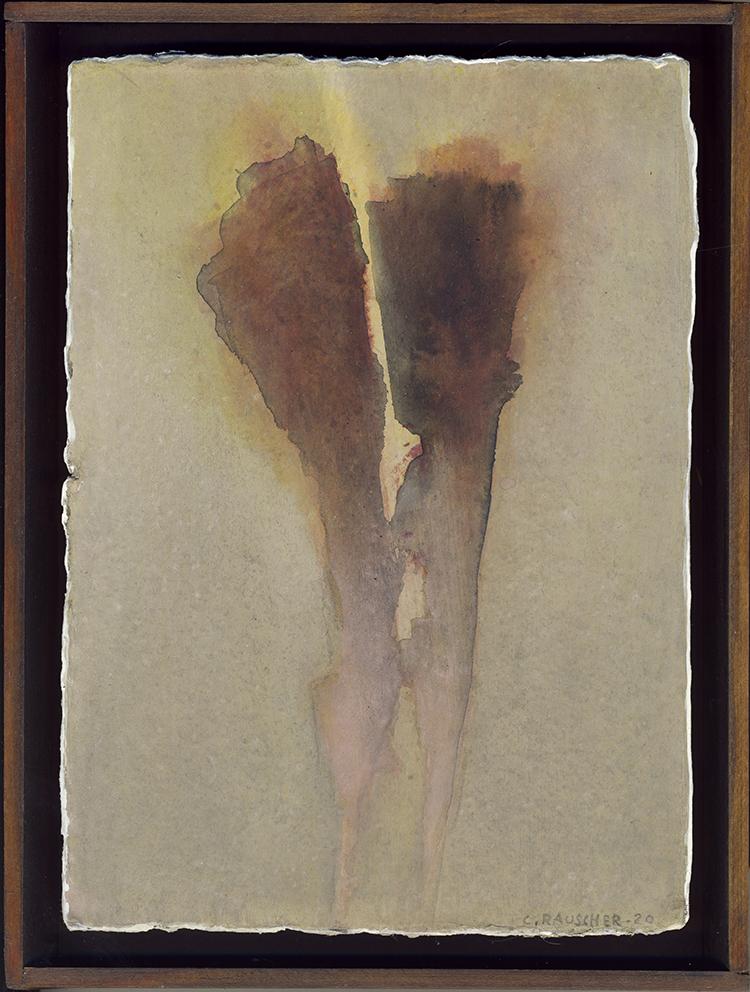 Sans titre, manquant d'air. Peinture sur carton,  9 mars 2020